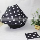 multi-use black with white dots nursing scarf car seat cover baby