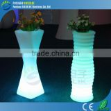 Roof Terrace Decor Color Changing LED Flower Pot