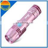 OEM Factory Aluminum Material D cell Battery Powered 10watt led super bright flashlight zooming