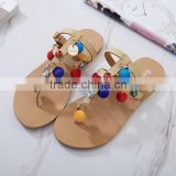 B13386A Woman strappy flat sandals bohemian sandals