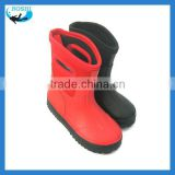 Red neoprene rubber child boot