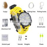 16 in1 Camping Survival Paracord Braided Watch Outdoor Climbing Multi-Functional Escape Watch
