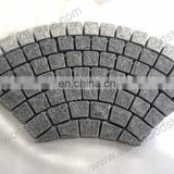 Black granite paving stone net work mesh back