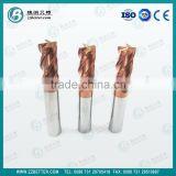 100% virgin material solid carbide end mill/square end mill/ball nose end mill
