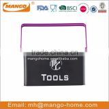 Black Tools Foldable Handle Metal storage basket