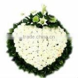 floral foam shapes & fresh flowers decoration for sympathy