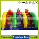 Lovely and Popular NEVERLAND TOYS Indoor Inflatable Shooting Football Game Bouncer High Quality Hot Sale