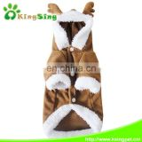 Pet Dog Elk Deer Costume Clothes Apparel Puppy Teddy Cosplay Hoodie dog winter Jumpsuits