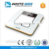 150kg LCD colorful plastic interlayer tempered glass electronic digital body weighing bathroom scale