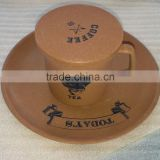 Degradable Disposable Conventional Bamboo Fiber Tea Cup with Lid
