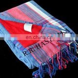 Summer Promotion 100% Cotton Yarn Dyed Woven Towel Pareo in Fast Colors