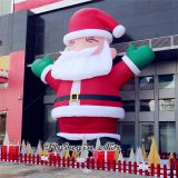 6m Height Outdoor Decorative Inflatable Santa Claus with Blower for Christmas Supplies