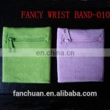 Cotton Colorful Zipper Wristband