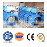 ductile cast iron ASTM flange double eccentric adjustable stop industrial butterfly valve