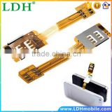 High Quality Useful For iPhone 5 5S 5C 6 4.7 Portable Dual 2 Sim Cards Double Adapter Non Cutting