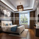 BISINI Chinese Style Wood Bedroom Design in Hotel
