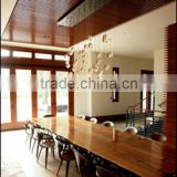 Slab Wood Dining Table Set 1