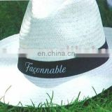 2013 fashion straw fedora hat