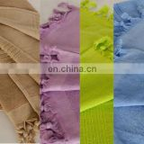 Azo Free & Fast Colors 100% Cotton Yarn Dyed Fouta Towel for Beach & Pool