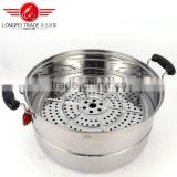 2016 best quality hot sale india stainless steel steam pot/stainless steel cooking pot