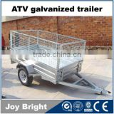 ATV galvanized trailer with ball hitch
