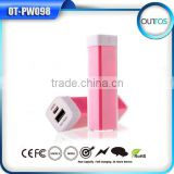 Customize LOGO gift power bank lipstick 2600mAh for mobile phone
