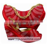 2016 red shoes and bag to match/ party shoes and bags/women shoes and bags