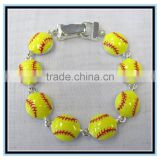 2015 sports enamel green tennis bracelet magnetic bracelet wholesale