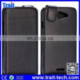 Vertical Flip Magnetic PC+PU Leather Case for HTC Desire 516 D516W (Black)
