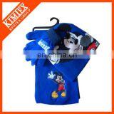winter items cute kids knitted scarf gloves set