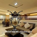 artistical resin material sea shell mosaic vase resin vase