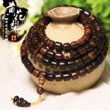 HAINAN HUANGHUA PEAR 9MM BARREL BEAD, HAND STRING, OLD MATERIAL TIGER SKIN, RIPPLE RIPPLE PATTERN