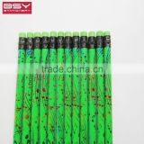 High Quality Standard HB Foil Fluorescence black wooden pencil with PVC box
