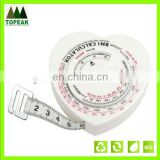 hot sell heart shaped BMI tape measure