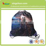 Cute sackpack polyester drawstring bag/drawstring backpack/foldable polyester bag