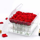 Transparent 2018 Christmas Gift Box Custom Rose Packing Box Acrylic Flower Box