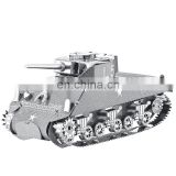 Military Vehicles collection super 3D Metal puzzle game Sherman Tank War Star childrens Puzzle toy