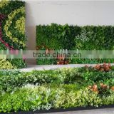 Home and outdoor decoration synthetic cheap 2m x 1m artificial vertical green grass wall E08 04C31