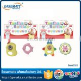 Baby Teether Rattle Plastic Bell Rattles