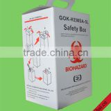 Medical sharp box white garbage bin/waterproof carton box for hospital