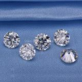 5.0mm round shape EF VVS white moissanite loose stones