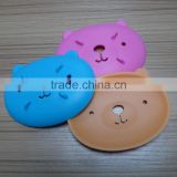 Environmental protection durable draining Bear Animal silicone soap box
