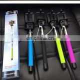 good quality Bluetooth selfie stick build in shutter universal for mobile phones