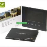 Personalized A4/A5 7 inch LCD screen hard cover video brochure/video business card/video greeting card