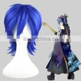 High Quality 35cm Short Straight VOCALOID KAOTO Wig Cosplay Blue Synthetic Anime Wig Cosplay Hair Wigs Party Wig