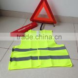 Car safety kit, emergency car kit, warning triangle
