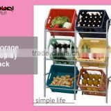 Storage Metal Shelving Stainless Steel Food Display Rack Drink Display Rack