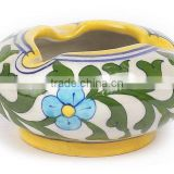 Indian Traditional Vintage Designs Jaipur Blue Pottery Ash Trays Ash Bowls