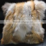 YR905B New Arrival Top Qulity Red Fox Fur Cushion Covers