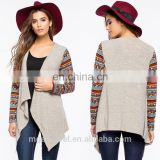 OEM new design ladies open front cardigan printed long sleeves women cardigan wholesale